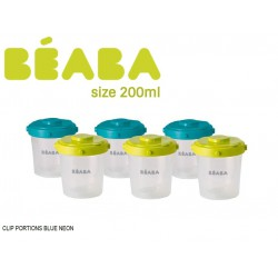 Beaba Set 6 Portions Clip Food Storage Container...