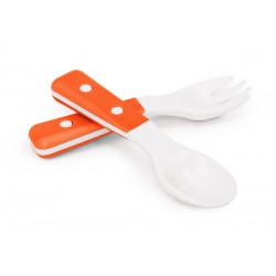 My Natural Fork and Spoon 6m+ - Orange
