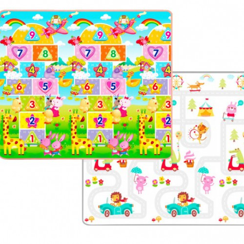 Yofi Activity Mat PE Roll (200x180x1.5cm) - Numeric Fun and Road Map