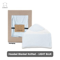 Cribcot Hooded Blanket Selimut Topi - Knitted...