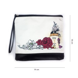 Pouch Printing Flower White - FREE GIFT TIDAK...