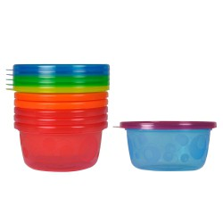 The First Years Take & Toss Snack Cup 6 Pack - Red