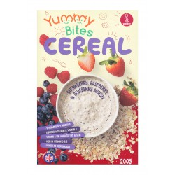 Yummy Bites Cereal 200 gr - Strawberry Raspberry...