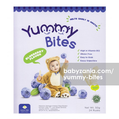 Yummy Bites Baby Rice Cracker 50 gram - Blueberry