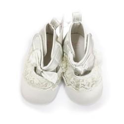 Prewalker Baby Shoes - White Lace