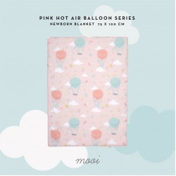 Mooi Newborn Printed Blanket - Pink Hot Air...