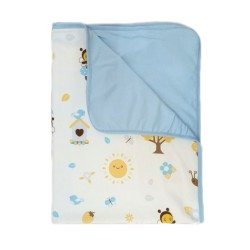 Babybee Airy Blanket - Garden Blue Bird
