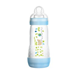 MAM Anti Colic Bottle 260ml - Blue (Motif Beragam)