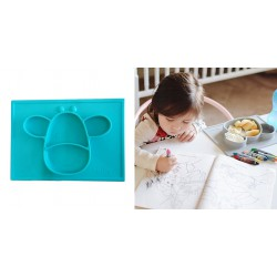 Nuby Large Silicone Placemat - Aqua Giraffe