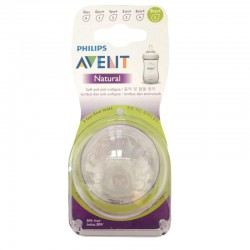 Philips Avent NEW Natural Skin Soft Nipple Fast...