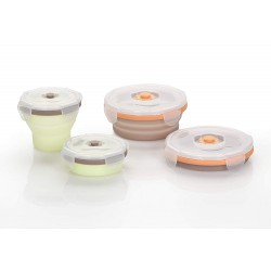 Babymoov Silicone Containers Set - 4 Pcs