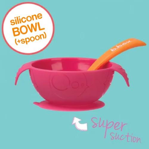 Bbox Silicone First Feeding Set Bowl + Spoon – Strawberry Shake