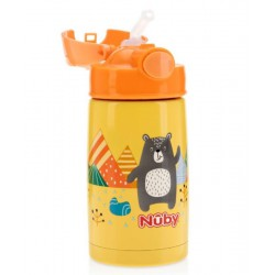 Nuby Thirsty Kids Stainless Steel Thermos with...