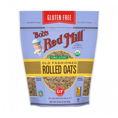 Bobs Red Mill Gluten Free Organic Old Fashioned Rolled Oats - 907gr