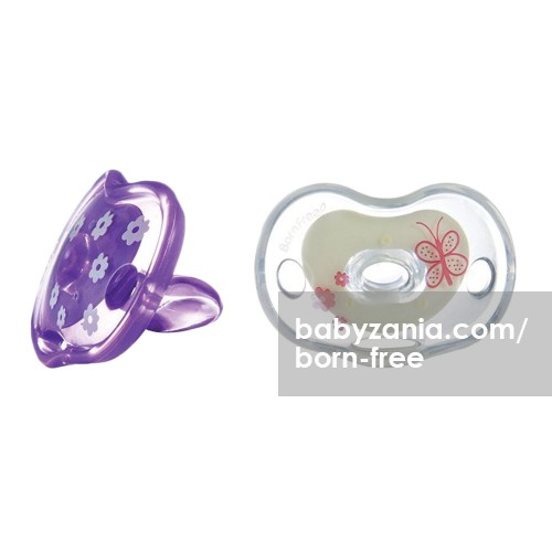 Born Free Bliss Orthodontic Pacifier 6M+ - Purple White