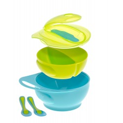 Brother Max Easy-Hold Weaning Bowl Set - Blue...