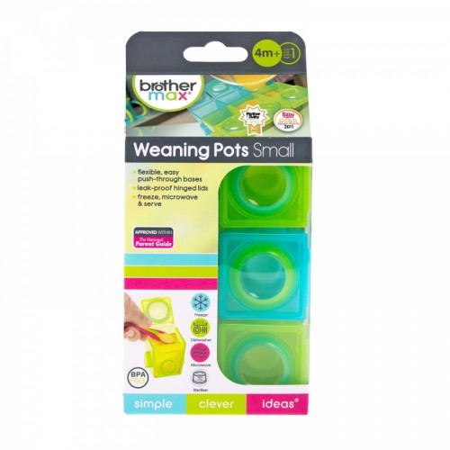 Brother Max 1st Stage Weaning Pots Small 4m+