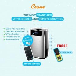 Crane 4 in 1 Humidifier, UV Purifier & Aroma...