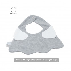 Cribcot Baby Angel Bib Bayi - Misty Light Grey