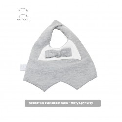 Cribcot Baby Tuxedo Bib Bayi - Misty Light Grey