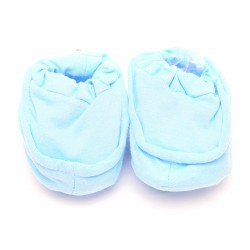 Cribcot Booties Plain - Baby Blue