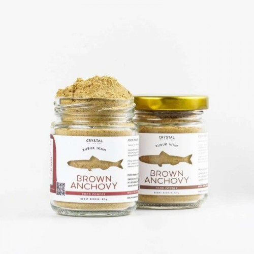 Crystal of the Sea Brown Anchovy Powder Bubuk Ikan Teri - 20 gr