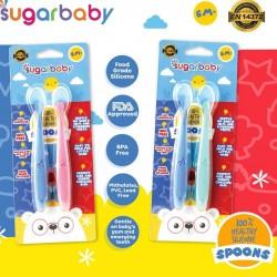 Sugar Baby Healthy Silicone Spoons Sendok Bayi...