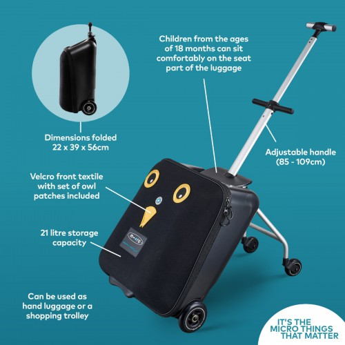 Micro Lazy Luggage Easy - Black