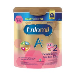 MeadJohnson Enfamil A+ Tahap 2 Vanila with Smart Lock Tub - 800gr