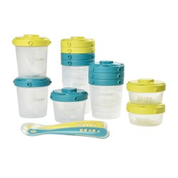 Beaba 1st Meal Set Portion And Spoons Tempat...