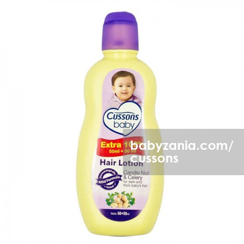 Cussons Baby Hair Lotion Candlenut Oil & Celery - 50+50 ml