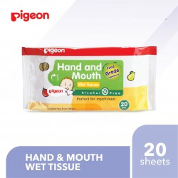 Pigeon Baby Hand and Mouth Wet Tissue 20 Sheets