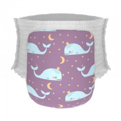 Happy Diapers Popok Bayi XL 22 - Good Night Whale