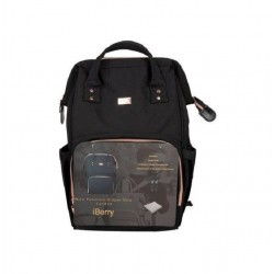 iBerry 2 in 1 London Diaper Bag - Black