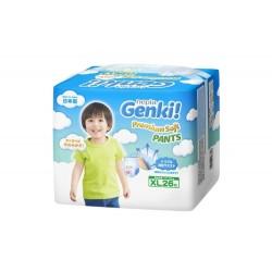 Nepia Genki Premium Baby Diapers Soft - Pants XL...