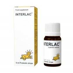 Interlac Probiotic Drops Suplemen Makanan - 5ml