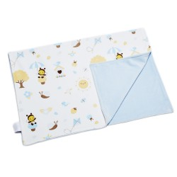 Babybee Joyful Blanket - Garden Blue Bird