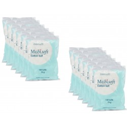 Medisoft Cotton Ball 120 Pcs - 12 Pack
