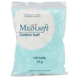 Medisoft Cotton Ball - 120 Pcs