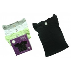 Kazel Ruffle Girl Shirt 4 Pack - Black
