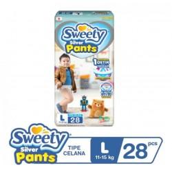 Sweety Popok Bayi Silver Pants - L 28