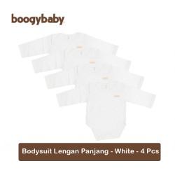 Boogy Baby Bodysuit Basic White - 4 Pcs (Lengan...