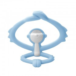 Mombella Hugging Monkey Teether - Light Blue