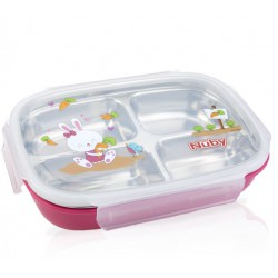 Nuby Insulated Stainless Steel Lunch Box - Pink