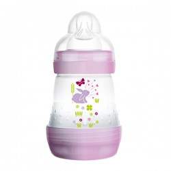 MAM Anti Colic Bottle 160ml - Purple Rabbit