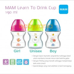 MAM Learn to Drink Cup Botol Bayi 6M+ 190 ml -...