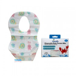 Marveila Disposable Baby Pocket Bib - 12 pcs