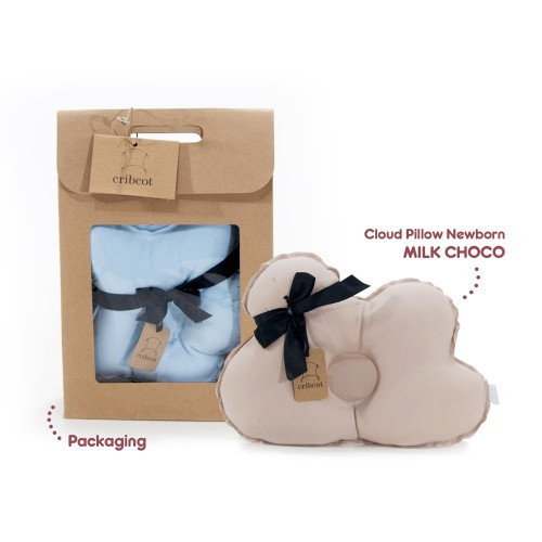 Cribcot Cloud Pillow Newborn - Milk Choco