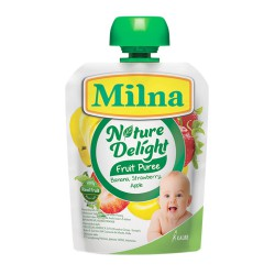 Milna Nature Delight 80 gr - Apple, Banana,...