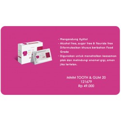 Momami Tooth and Gum with Grape Flavour - 20 Wipes